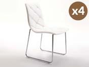 """Lot de 4 chaises """"Andréa"""" - Blanc"""