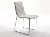 """Lot de 4 chaises """"Andréa"""" - 51 x 60 x 86 cm - Coloris argent"""