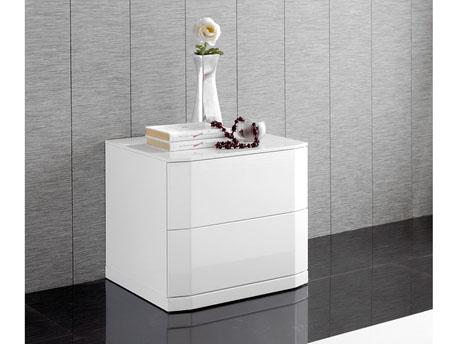"""1 chevets """"Delta"""" - 54 x 45 x 46 cm - Coloris blanc"""