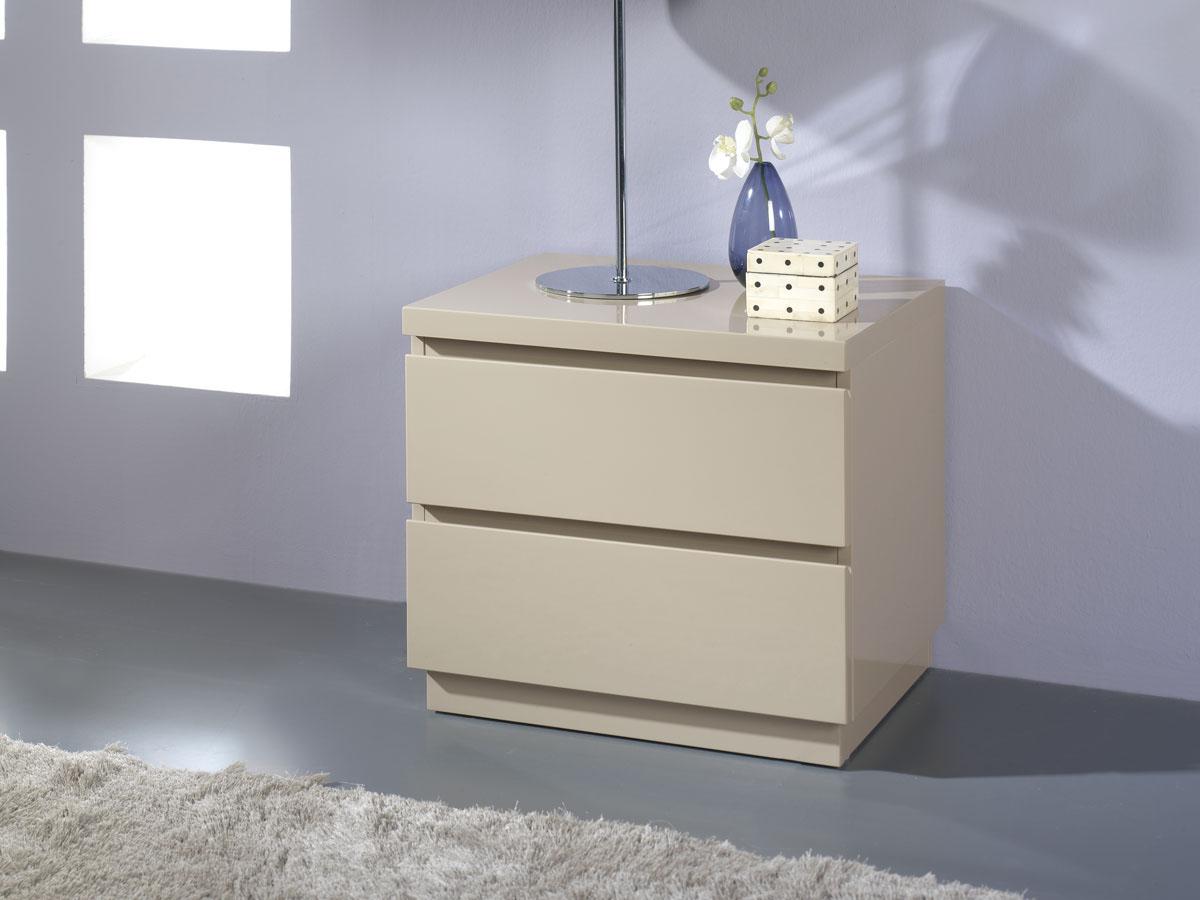 Lot de 2 chevets Opale - 50 x 39 x 46 cm - Coloris blanc