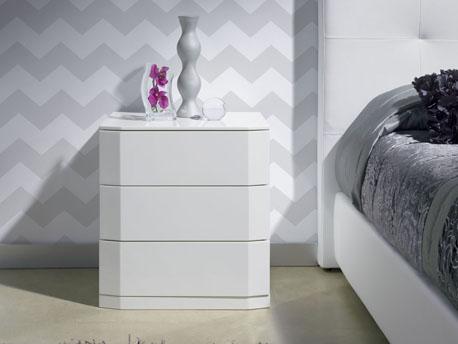 "chevets ""Perle"" 3 tiroirs - 54 x 42 x 57 cm - Coloris blanc"