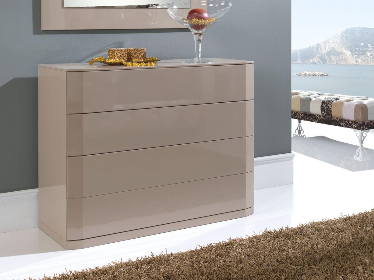 commode delta 110 x 42 x 85 cm 4 tiroirs coloris moka 83580 83582. Black Bedroom Furniture Sets. Home Design Ideas