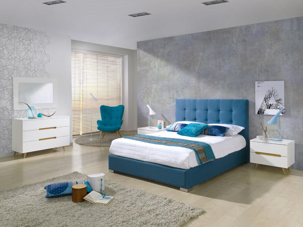 Lit-coffre Belén - 160 x 200 cm - Bleu