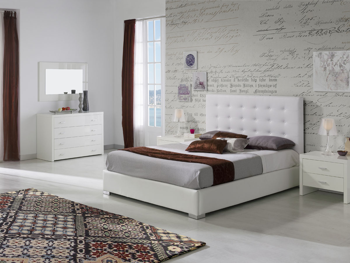 lit coffre eva 140 x 190 cm blanc 85678 85680. Black Bedroom Furniture Sets. Home Design Ideas