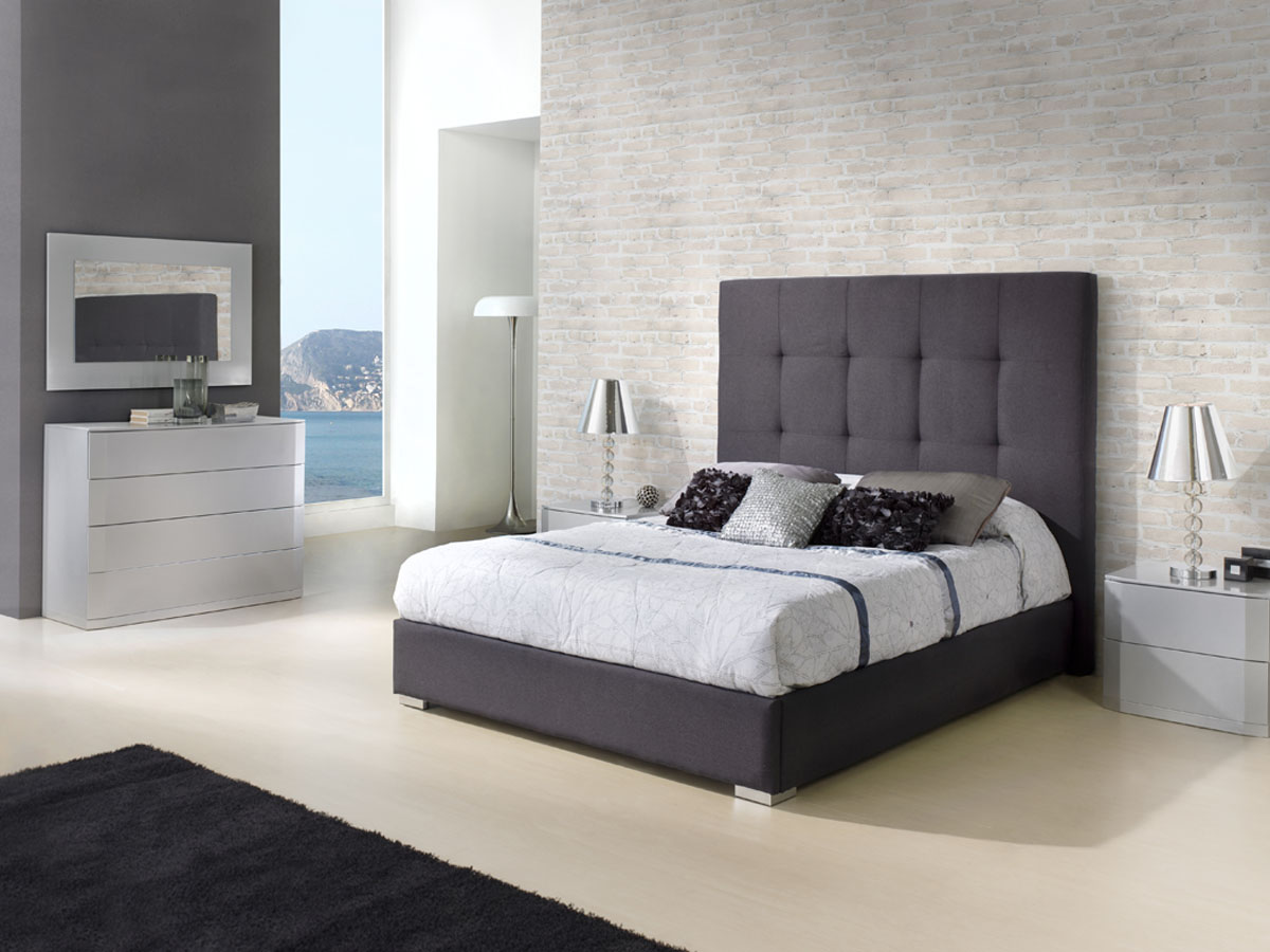 lit coffre patricia 160 x 200 cm gris anthracite. Black Bedroom Furniture Sets. Home Design Ideas