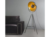 "Lampe ""Flash"" - Ø 53 x 163 cm - Coloris noir/or"