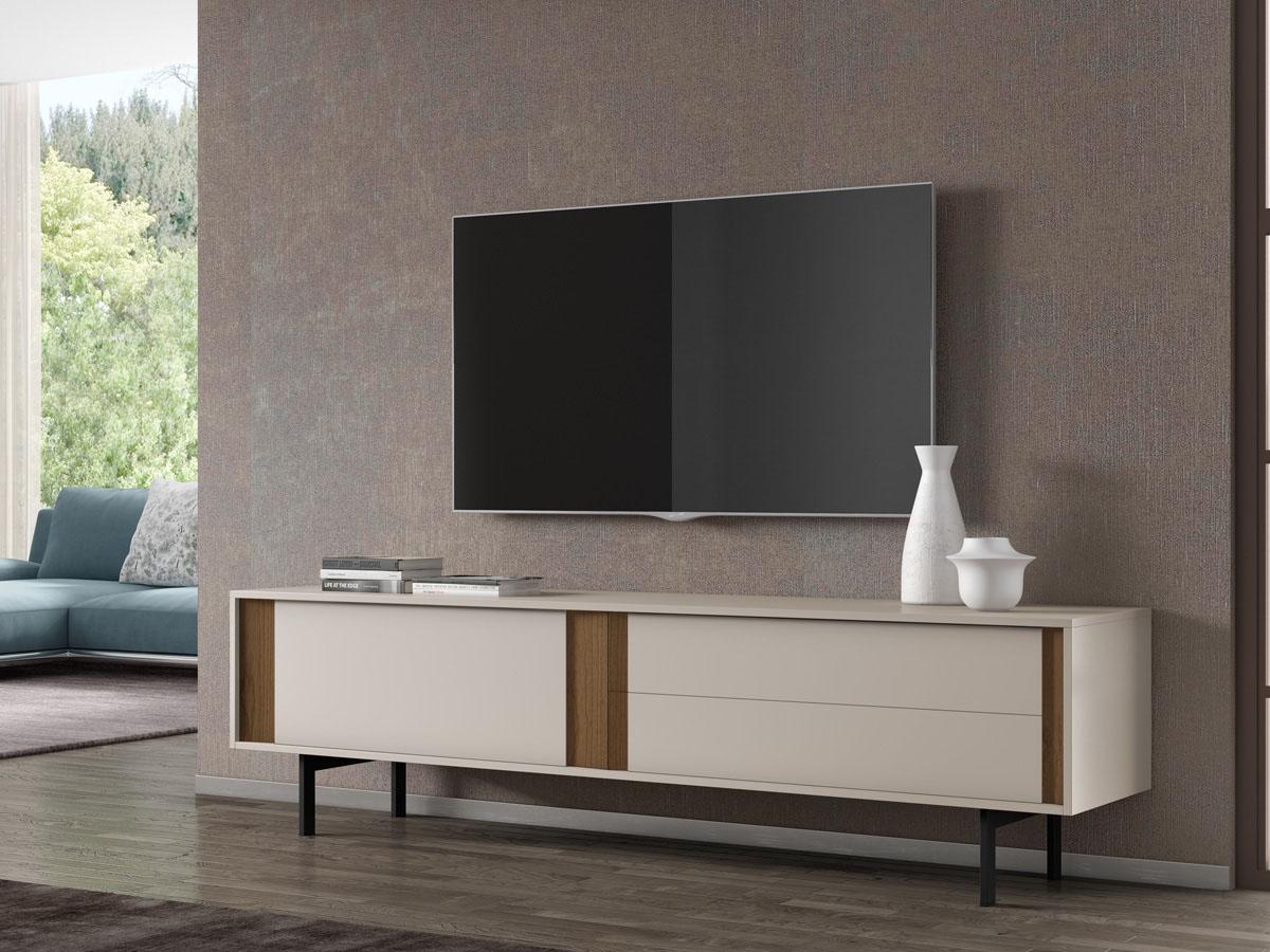 Meuble TV Moritz - 195 x 47 x 56.5 cm - Sable
