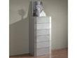 """Chiffonnier """"Delta"""" - 59 x 42 x 118 cm - 6 tiroirs - Coloris argent"""