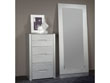 "Chiffonnier ""Manille"" - 68 x 45 x 114 cm - 6 tiroirs - Coloris argent"