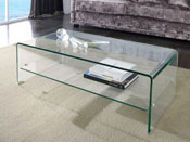"Table basse ""Mint"" - 110 x 55 x 35 cm - Transparent"