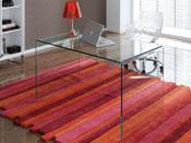 """Table repas verre """"Belle"""" - 126 x 70 x 74 cm - 4 places"""