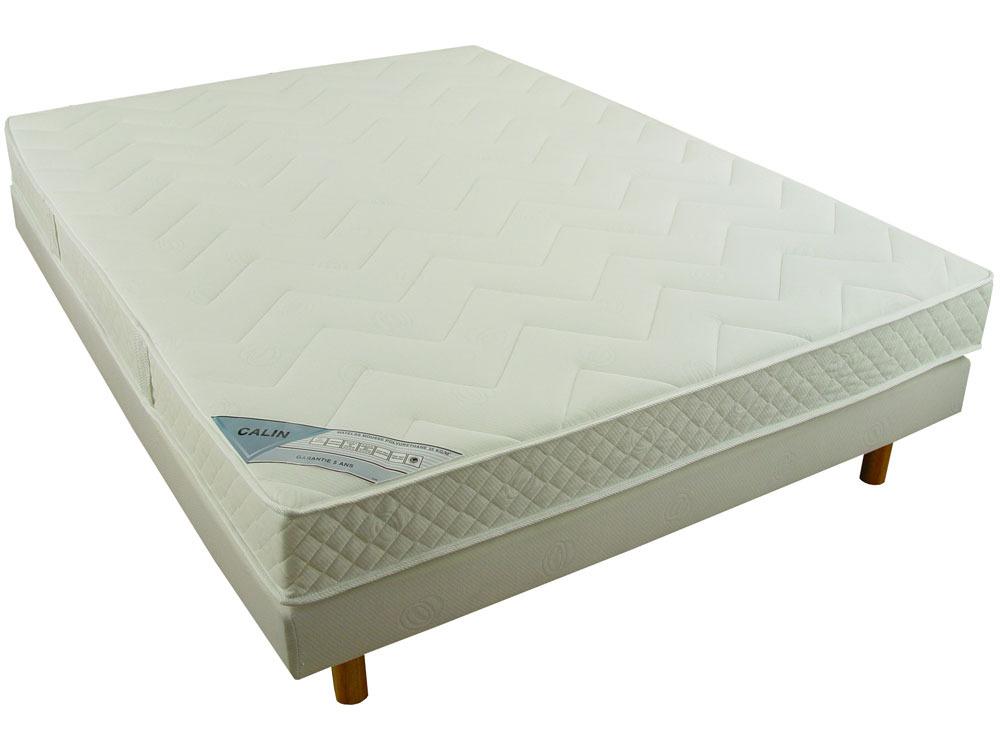 ensemble matelas mousse et sommier tapissier ensemble calin 140 x 190 cm 37671 37673. Black Bedroom Furniture Sets. Home Design Ideas