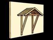 """Avant-toît """"Siegen"""" - 2,33 x 1,155 m - Porte simple"""