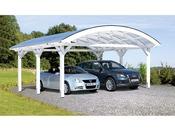 Carport voiture - 61.53 m² - 6.35 x 9.69 x 5.25 m