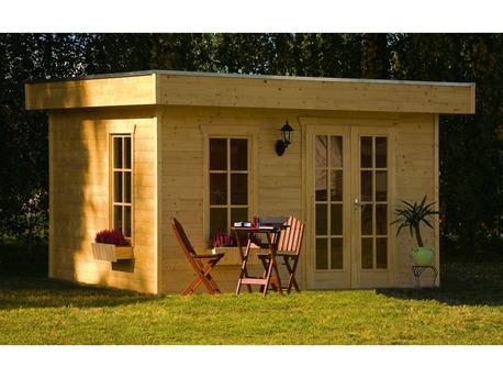 """Abri jardin bois """"Breda"""" - 11.40 m² - 3.80 x 3.00 x 2.55 m - 28 mm"""