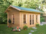 "Abri jardin bois ""Lugano 2"" - 15.96 m² - 4.20 x 3.80 x 2.96 m - 45 mm"