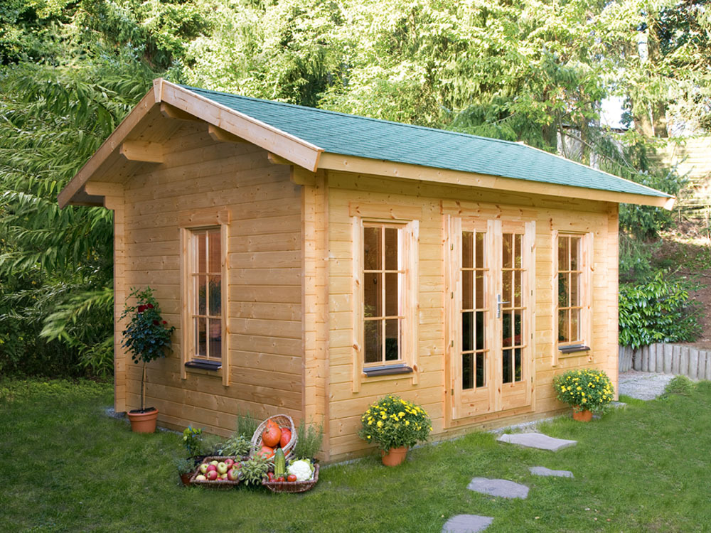 Abri jardin bois lugano 2 m x x 2 for Cendre de bois jardin