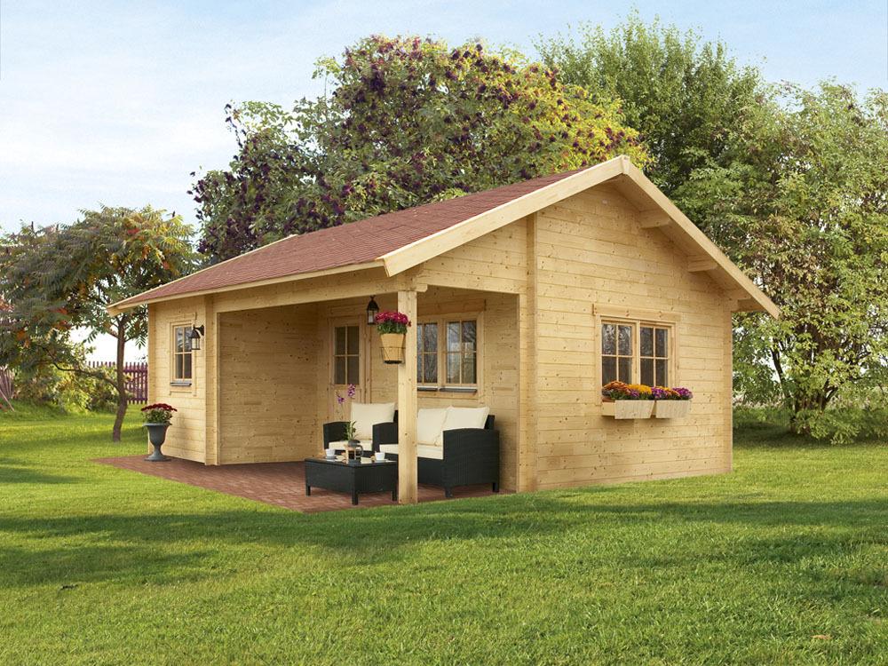 abri jardin bois bern 4 27 72 m x x m 45 mm 51588. Black Bedroom Furniture Sets. Home Design Ideas