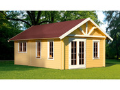 """Abri jardin bois """"Toronto 4"""" - 27,72 m² - 4.20 x 6.60 x 3.62 m - 70 mm"""