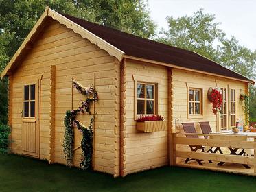 chalet jardin bois 20m2. Black Bedroom Furniture Sets. Home Design Ideas
