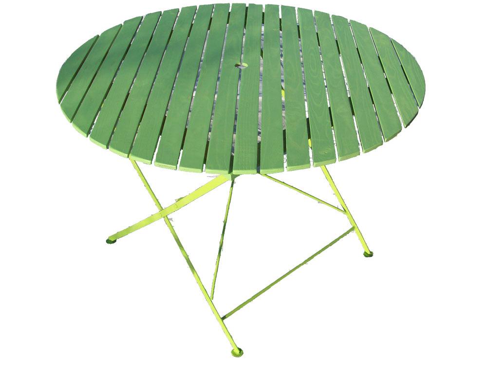 Table de jardin table ronde pliante bistrot diam 106 x h 72 cm 38412 38417 - Table de jardin bistrot ...