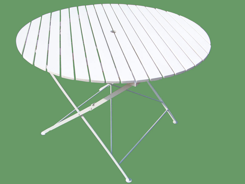 Table de jardin table ronde pliante bistrot diam 106 for Table de jardin pliante plastique