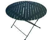 "Table de jardin - Table ronde pliante ""Bistrot"" - Diam 106 x H 72 cm"