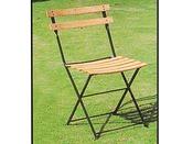 """Chaise jardin pliante """"Bistrot"""" - Hêtre clair - Lot de 4"""