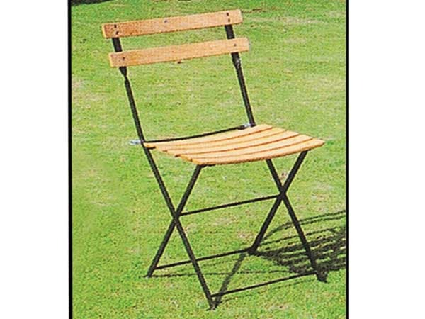 Chaise jardin pliante bistrot h tre clair lot de 4 for Chaise de bistrot en bois