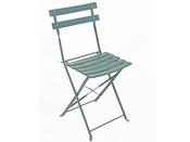 """Chaise jardin pliante """"Bistrot"""" - Vert - Lot de 4"""