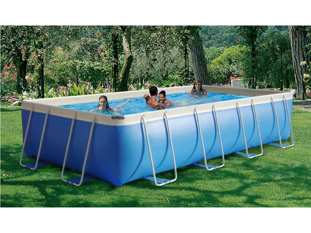 Piscine tubulaire allong e prestige 600 junior x x 1m 52654 for Peinture piscine castorama