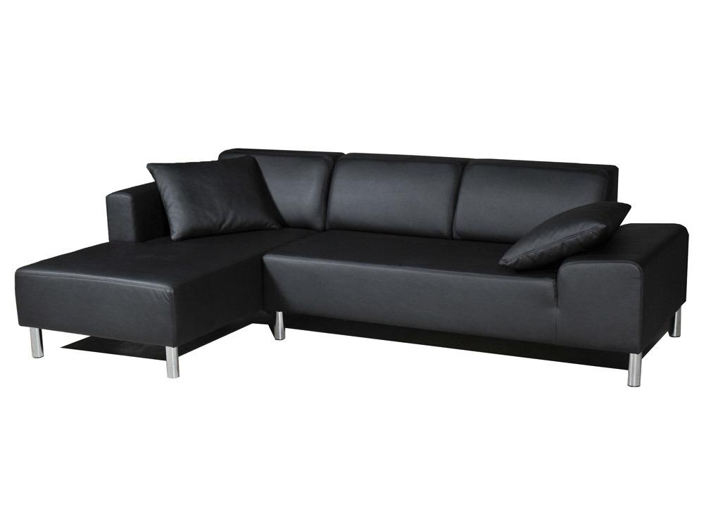 Canapé d'angle gauche Sotto - 4 places - Noir