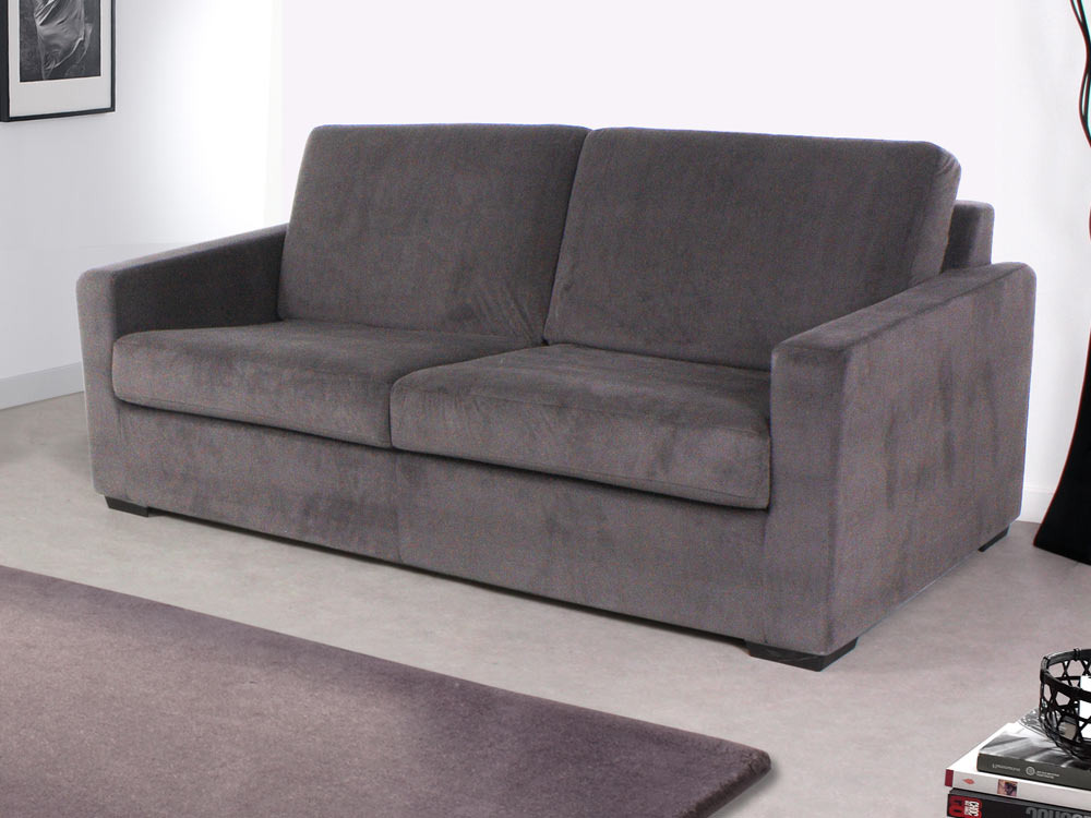 Canap convertible michigan couchage 120 x 190 cm for Canape convertible bon couchage