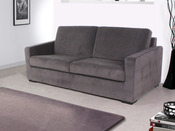 "Canapé convertible ""Michigan"" - couchage 140 x 190 cm - Gris"