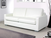 "Canapé convertible ""Michigan"" - couchage 140 x 190 cm - Blanc"