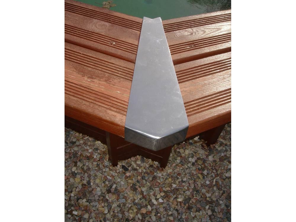 Lot de 8 caches angles 49482 for Piscine hors sol plastique