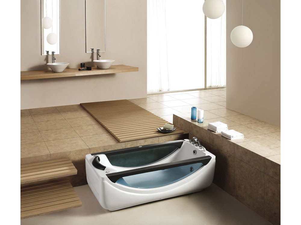 baignoire baln o transparente dakota 180 x 87 x 66 cm 51351. Black Bedroom Furniture Sets. Home Design Ideas