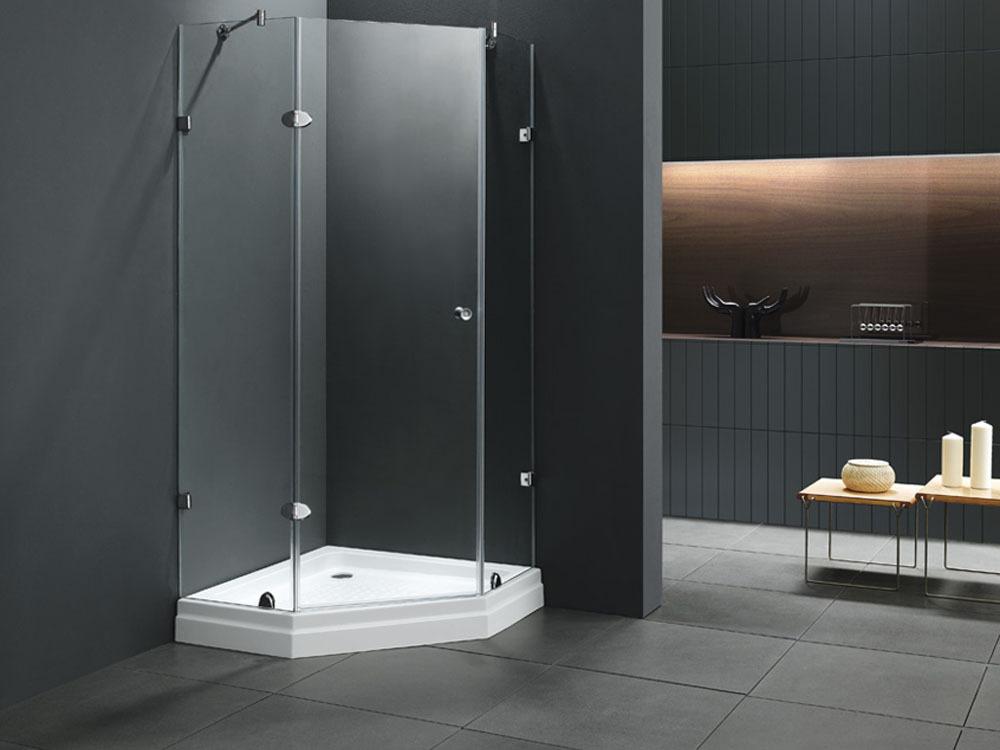 paroi de douche stockholm quart de cercle 90x90x180cm receveur 51329. Black Bedroom Furniture Sets. Home Design Ideas