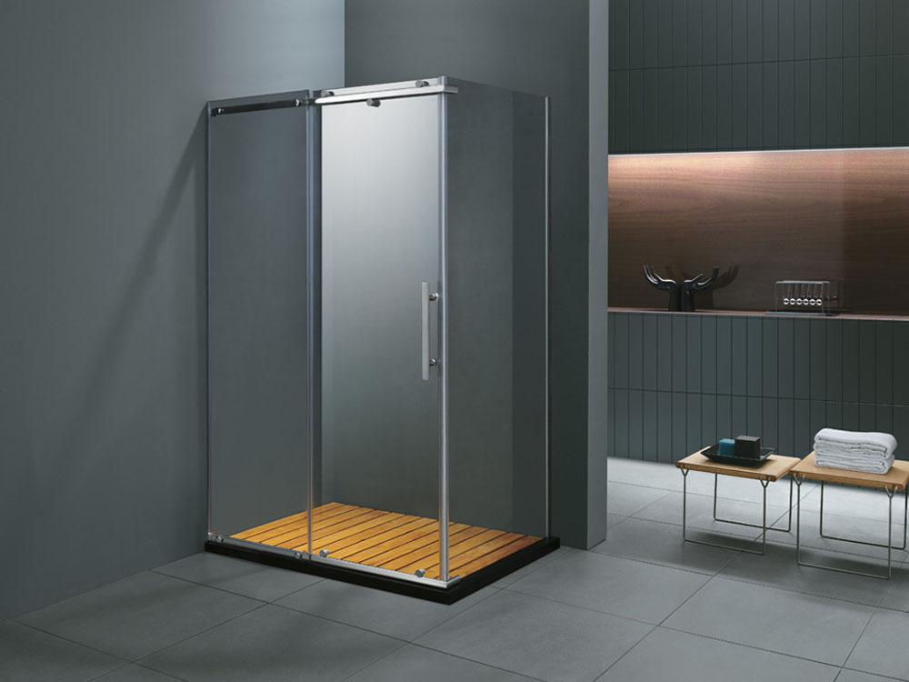 Paroi de douche rectangulaire skara 90x120x185cm 51343 - Paroi de baignoire coulissante ...