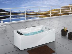 Promotion baignoire baln o 39 39 alabama 39 39 150x83x58 cm chez habi - Vente privee baignoire balneo ...