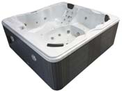 Spa Cuba 6 places - Cuve blanc - syst�me Balboa + station d'Iphone int�gr� - 220x210x80cm