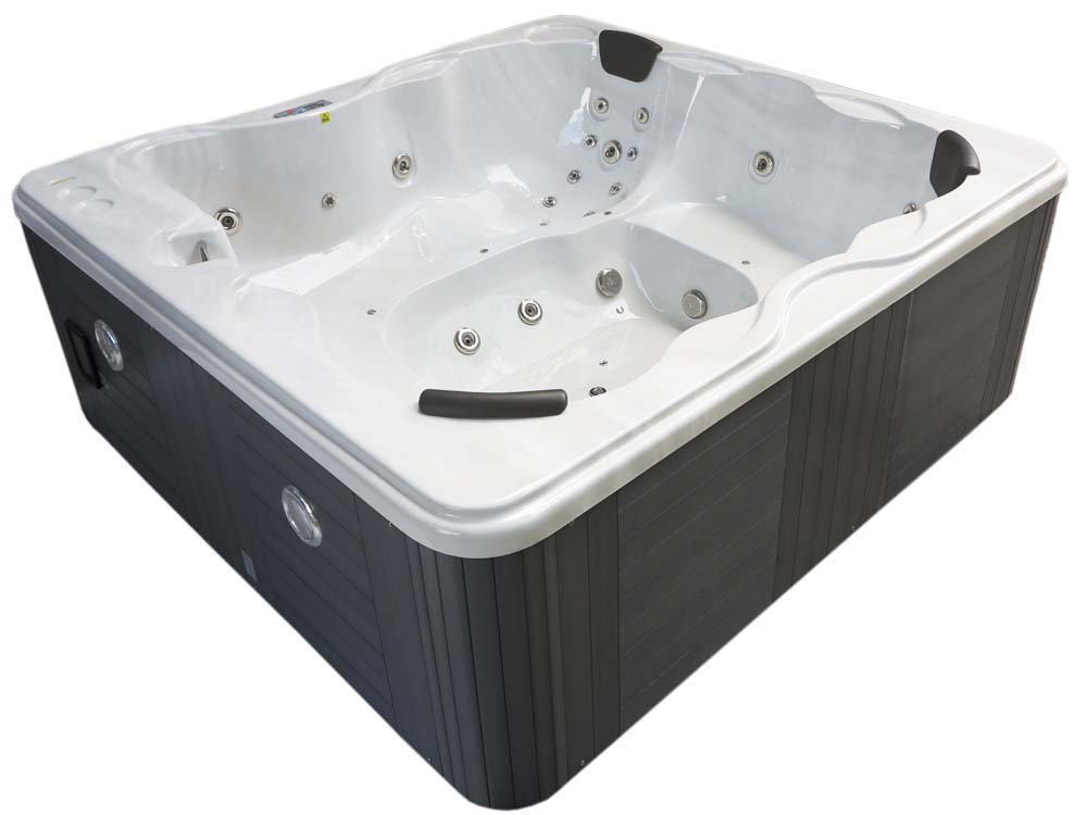 spa cuba 6 places cuve blanc syst me balboa. Black Bedroom Furniture Sets. Home Design Ideas