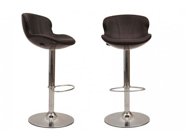 Lot de 2 tabourets de bar stefan marrons 52095 52097 - Tabouret bar habitat ...