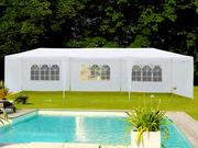 Tente de réception  Carolina  en polyéthylène - 3 x 9 m