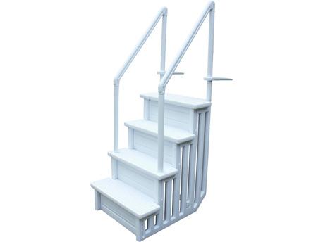 Escalier simple pour piscine