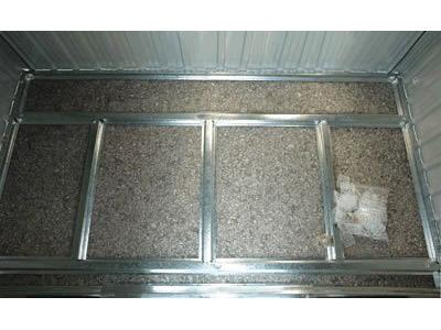 Fondation m tallique pour abri de jardin m tal texas m 59523 - Plancher pour abri de jardin metal ...