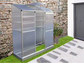 mini serre de jardin ou balcon polycarbonate capucine 59510 68430. Black Bedroom Furniture Sets. Home Design Ideas
