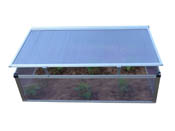 "Serre chassis polycarbonate ""Rosa"" 0.6 m² -  1.08 x 0.56 x 0.41 m"