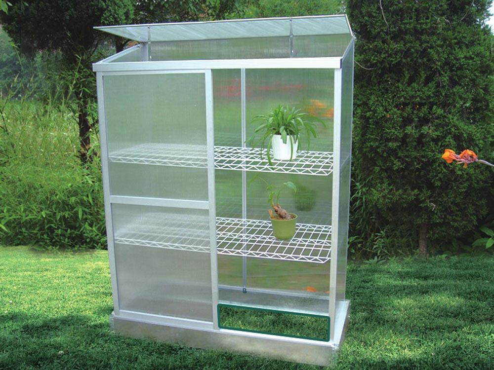 Mini serre de jardin ou balcon polycarbonate capucine 0 - Serre de jardin polycarbonate pas cher ...