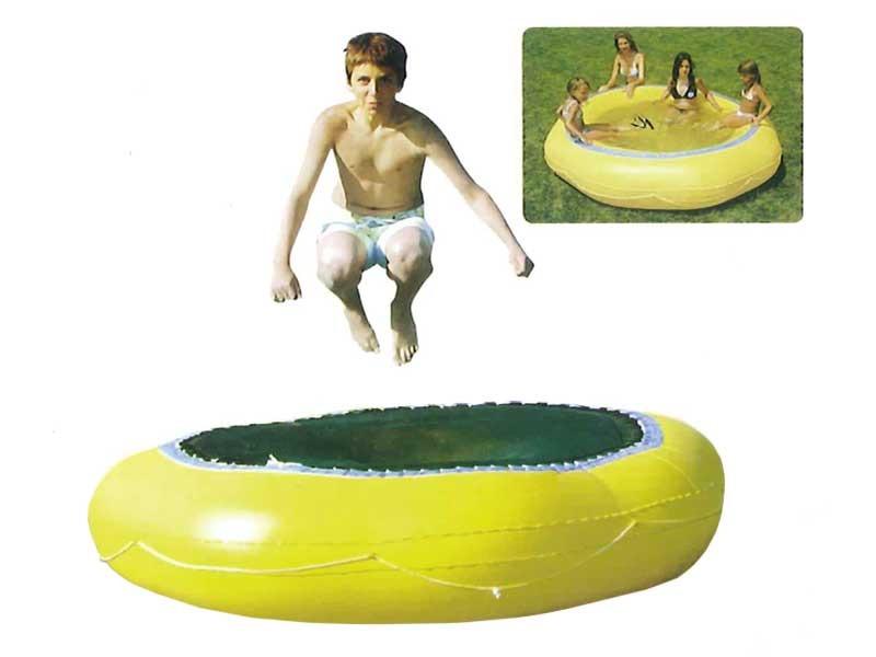 Trampoline piscine enfant ronde jaune 200 x 50 cm 52968 for Piscine ronde plastique